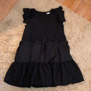 Gorgeous satin like black dress by Gymboree